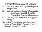 formal features aren t uniform