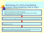 methodology for constructing baseline scenario using parameters from in step 1