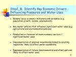 step1 b identify key economic drivers influencing pressures and water uses
