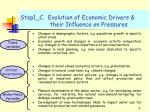 step1 c evolution of economic drivers their influence on pressures