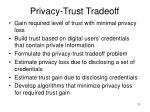 privacy trust tradeoff