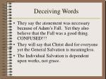 deceiving words