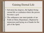 gaining eternal life