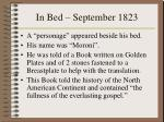 in bed september 1823