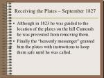 receiving the plates september 1827