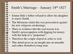 smith s marriage january 18 th 1827