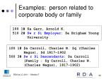 examples person related to corporate body or family