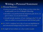 writing a personal statement2