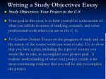 writing a study objectives essay1