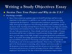 writing a study objectives essay12