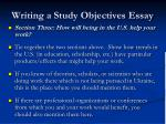 writing a study objectives essay16