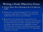 writing a study objectives essay18