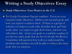 writing a study objectives essay2