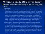 writing a study objectives essay20