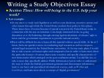 writing a study objectives essay21