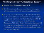 writing a study objectives essay6