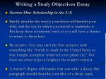 writing a study objectives essay7
