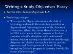 writing a study objectives essay8