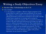 writing a study objectives essay9