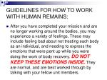 guidelines for how to work with human remains10