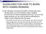 guidelines for how to work with human remains3