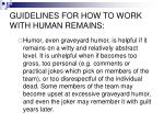 guidelines for how to work with human remains5