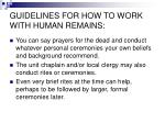 guidelines for how to work with human remains6