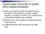guidelines for how to work with human remains9