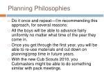 planning philosophies