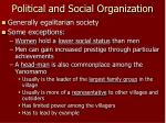political and social organization