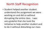 north staff recognition