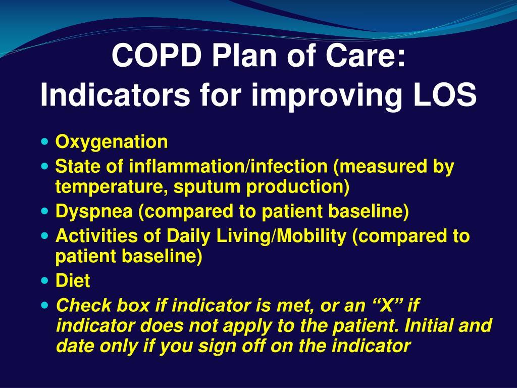 PPT - Regional COPD Pre-printed Orders & Discharge Plan PowerPoint