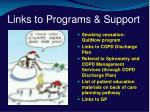 links to programs support