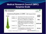 medical research council mrc dyspnea scale