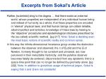 excerpts from sokal s article