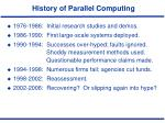 history of parallel computing