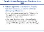 parallel system performance practices circa 19902