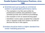 parallel system performance practices circa 19905