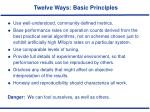 twelve ways basic principles