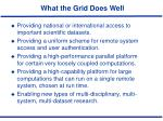 what the grid does well