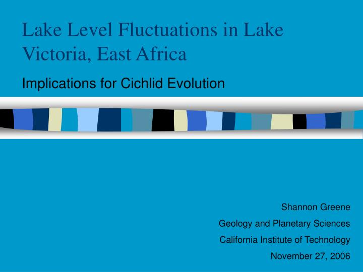 lake level fluctuations in lake victoria east africa n.