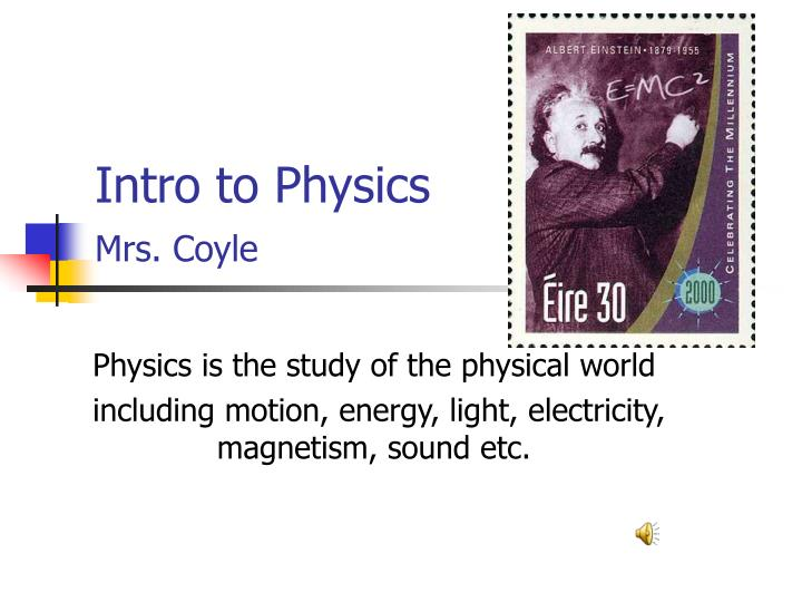 intro to physics mrs coyle n.