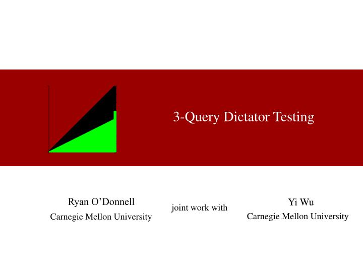 3 query dictator testing n.