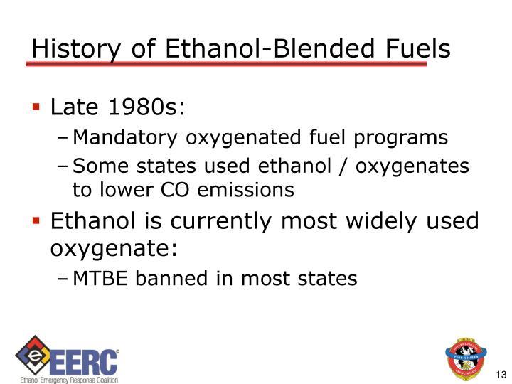 History of Ethanol-Blended Fuels