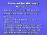 internet for distance education