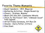 favorite theme moments