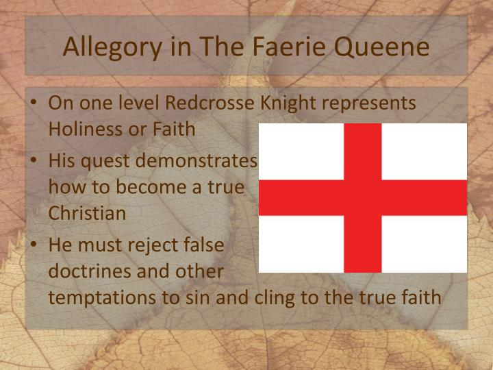 the faerie queene allegory in Librivox recordings are public domain in the usa if you are not in the usa the faerie queene (version 2) edmund spenser (1552 - 1599.