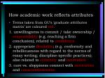 how academic work reflects attributes