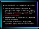 how academic work reflects attributes1
