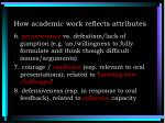 how academic work reflects attributes2